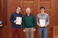 Awards for best bachelor degrees and Hausdorff Prize